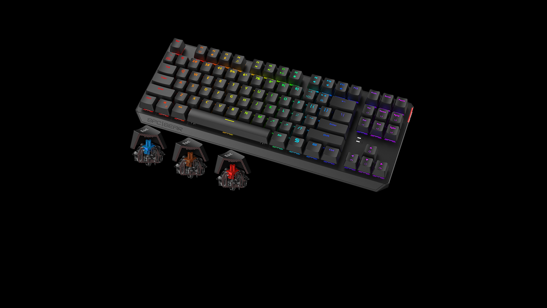 GK630K Tournament Kailh Blue/Brown/Red RGB